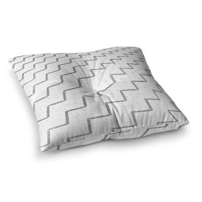 Richard Casillas Speckled ZigZag Square Floor Pillow Size: 26 x 26