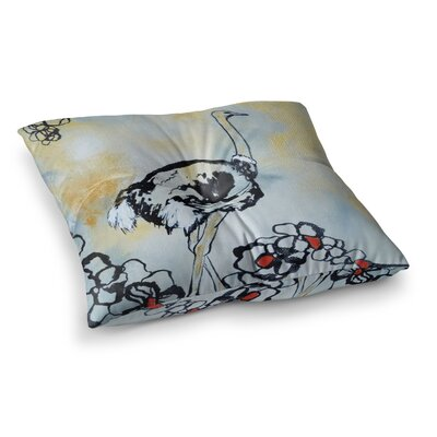 Sonal Nathwani Ostrich Square Floor Pillow Size: 23 x 23