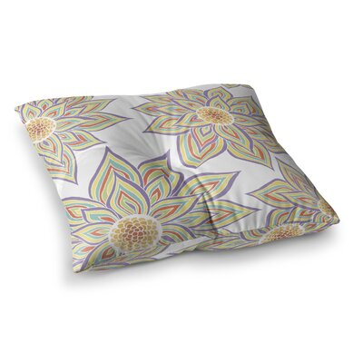 Pom Graphic Design Floral Rhythm Size: 26 x 26, Color: White