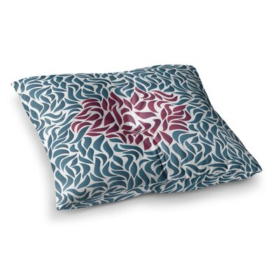 Nick Atkinson Desire Maroon Square Floor Pillow Size: 23 x 23, Color: Blue