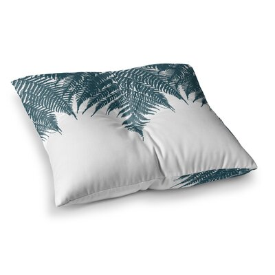 Project M Fern Digital Square Floor Pillow Size: 23 x 23, Color: Green/White