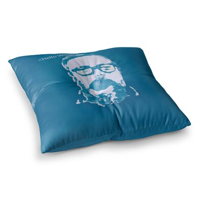 Theresa Giolzetti Hello World Dennis Ritchie Square Floor Pillow Size: 26 x 26