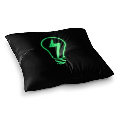 BarmalisiRTB Thunder Bulb Square Floor Pillow Size: 23 x 23