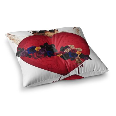 Oriana Cordero Sac Heart For Frida Square Floor Pillow Size: 26 x 26