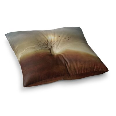 Viviana Gonzalez Lone Tree Love I Square Floor Pillow Size: 23 x 23
