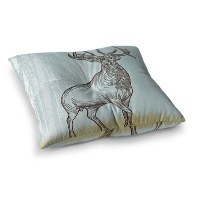 Sam Posnick Elk Scene Square Floor Pillow Size: 23 x 23