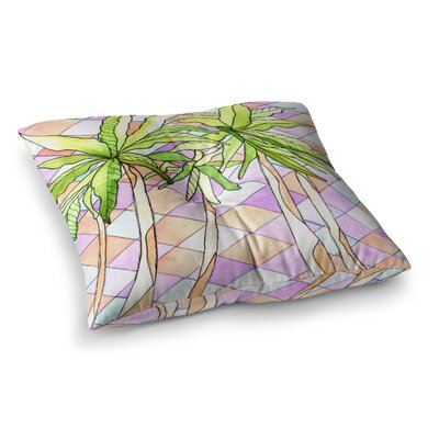 Rosie Brown Geometric Tropic Square Floor Pillow Size: 23 x 23