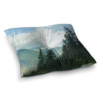 Robin Dickinson Adventure Beckons Nature Landscape Square Floor Pillow Size: 23 x 23