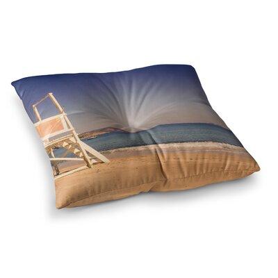 Violet Hudson Ombre Beach Square Floor Pillow Size: 26 x 26