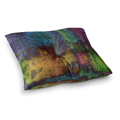 Nina May Rainbow Saltwater Painting Square Floor Pillow Size: 23 x 23