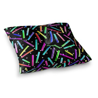 Noonday Design Confetti Party Square Floor Pillow Size: 23 x 23
