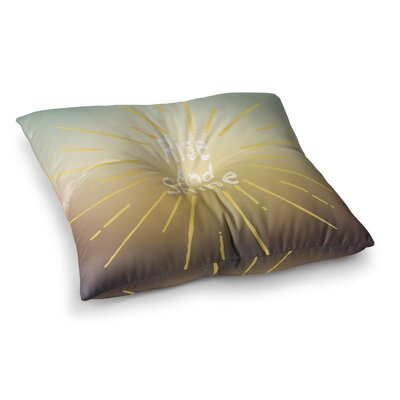 Suzanne Carter Rise and Shine Square Floor Pillow Size: 26 x 26