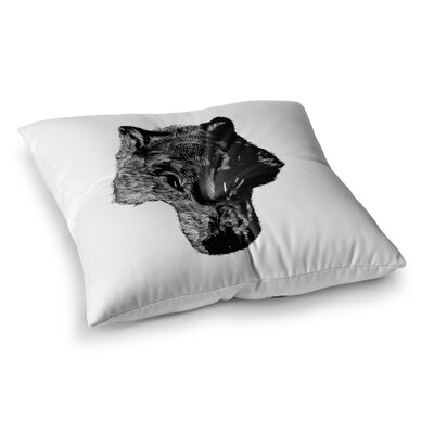 BarmalisiRTB Head Coyote Digital Square Floor Pillow Size: 26 x 26