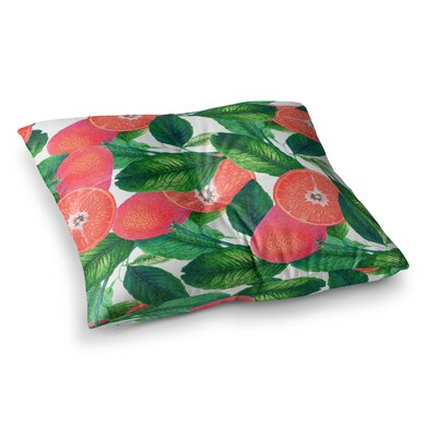 83 Oranges Forbidden Fruit Digital Square Floor Pillow Size: 26 x 26