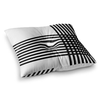 Trebam Krizanje Minimal Lines Square Floor Pillow Size: 26 x 26