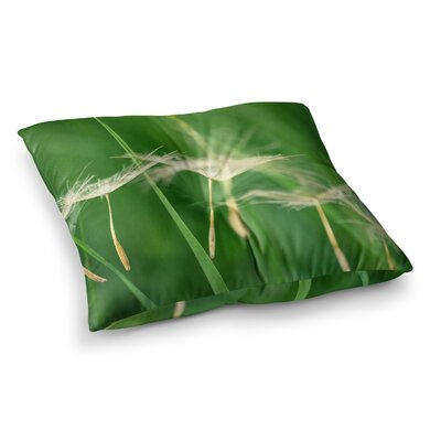 Robin Dickinson Best Wishes Flower Square Floor Pillow Size: 26 x 26