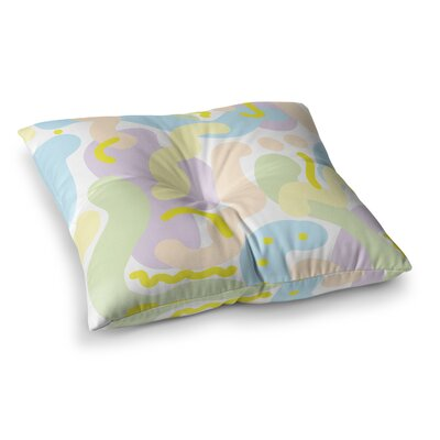 Vasare Nar Futuristic Illustration Square Floor Pillow Size: 23 x 23