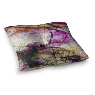Malia Shields Abstracted Circles Series 3/3 Magenta Painting Square Floor Pillow Size: 23 x 23