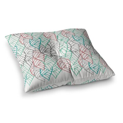 Pom Graphic Design Ethnic Leaves Square Floor Pillow Size: 23 x 23