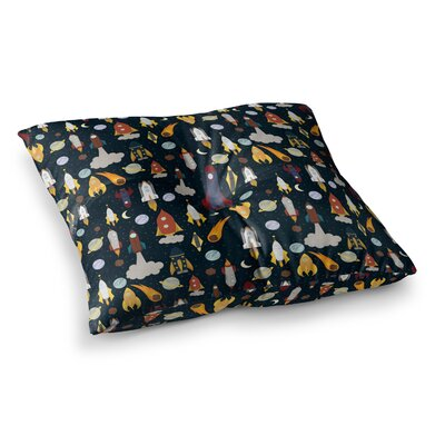 Stephanie Vaeth Rockets Celestial Pattern Square Floor Pillow Size: 23 x 23