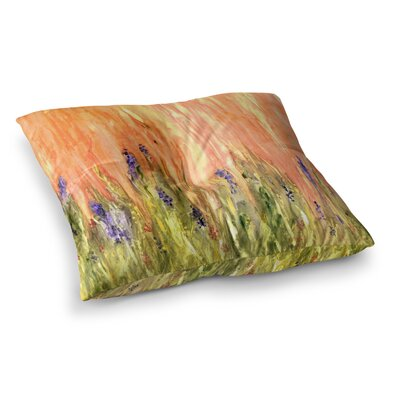 Rosie Brown Welcome Spring Square Floor Pillow Size: 23 x 23