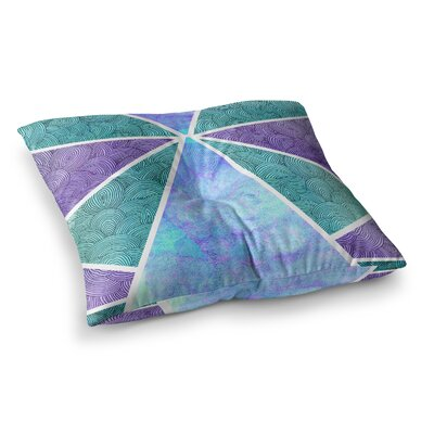 Pom Graphic Design Reflective Pyramids Square Floor Pillow Size: 26 x 26