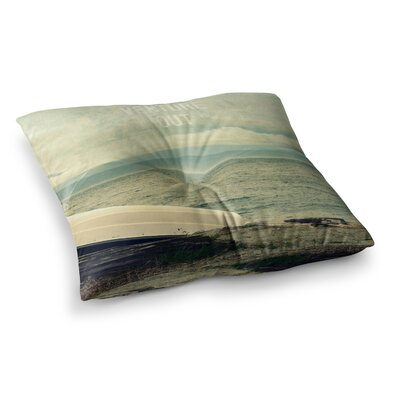 Robin Dickinson Venture Out Boat Square Floor Pillow Size: 26 x 26