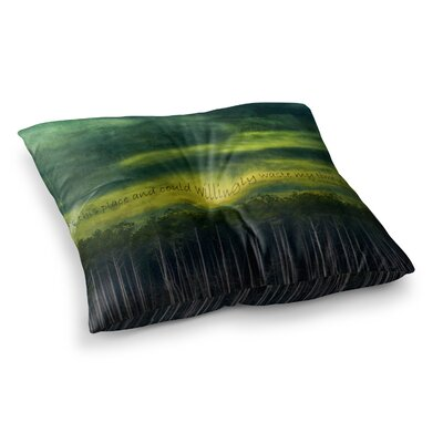 Robin Dickinson Smitten Square Floor Pillow Size: 23 x 23