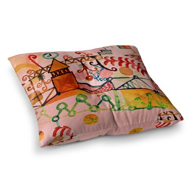 Marianna Tankelevich Happy Town Square Floor Pillow Size: 23 x 23