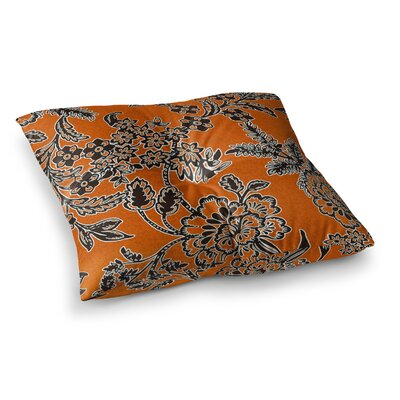 Vikki Salmela Blossom Square Floor Pillow Size: 26 x 26, Color: Yellow