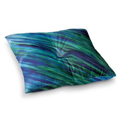 Theresa Giolzetti Square Floor Pillow Size: 23 x 23, Color: Blue