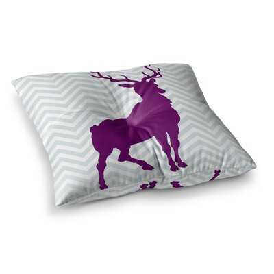 Suzanne Carter Chevron Deer Square Floor Pillow Size: 26 x 26