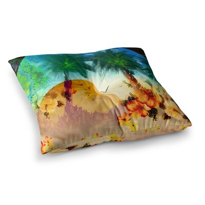 Infinite Spray Art Paradise Patterns Square Floor Pillow Size: 23 x 23
