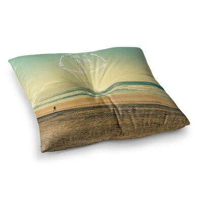 Robin Dickinson Take Me to the Sea Square Floor Pillow Size: 23 x 23