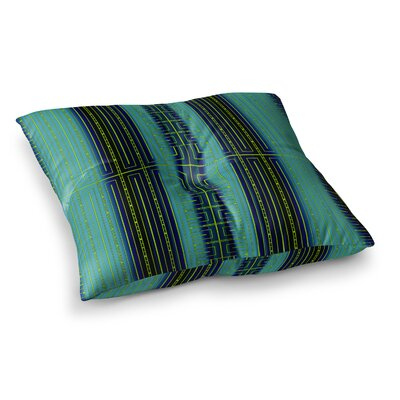 Nina May Deco City Blush Square Floor Pillow Size: 23 x 23, Color: Green/Black
