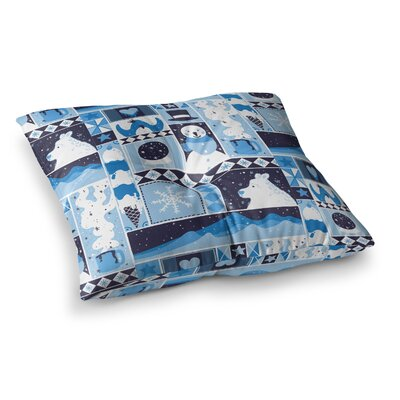 Tobe Fonseca Winter Seasonal Square Floor Pillow Size: 23 x 23