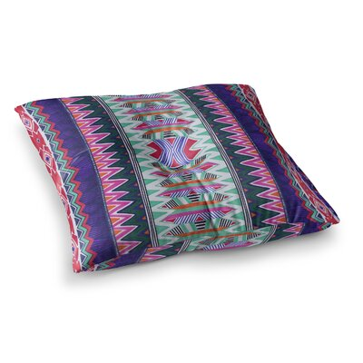 Vasare Nar Folk Tribal Ethnic Tribal Square Floor Pillow Size: 26 x 26