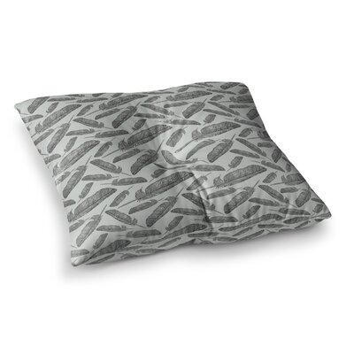 Sam Posnick Feather Scene Square Floor Pillow Size: 23 x 23