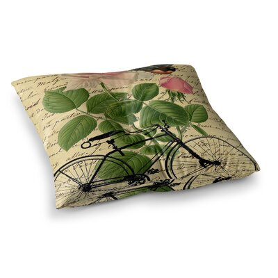 Suzanne Carter Vintage Cycle Floral Square Floor Pillow Size: 23 x 23