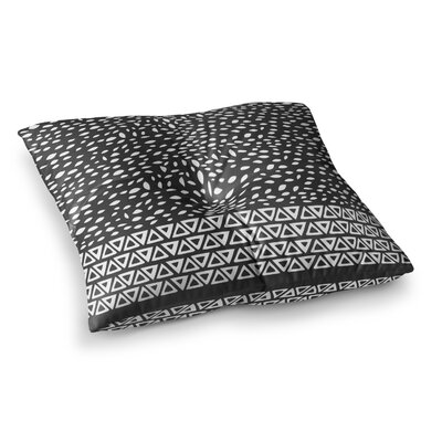 Pom Graphic Design Wind Day Square Floor Pillow Size: 23 x 23, Color: Black