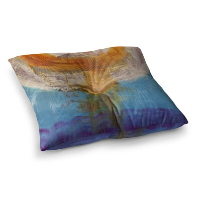 Steve Dix Source of Energy Square Floor Pillow Size: 23 x 23