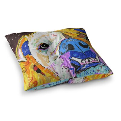 Rebecca Fisher Tucker Bulldog Square Floor Pillow Size: 23 x 23