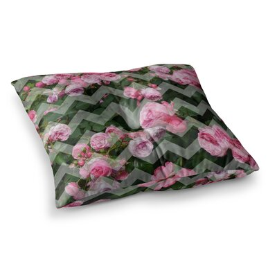 Suzanne Carter Chevron Rose Square Floor Pillow Size: 23 x 23