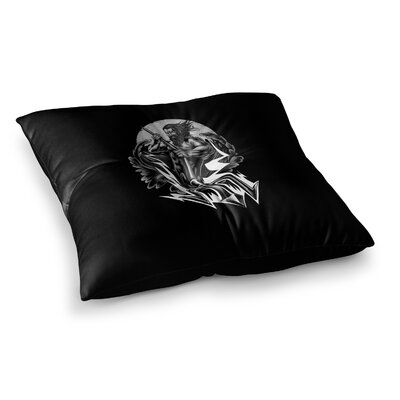 BarmalisiRTB Poseidon Digital Square Floor Pillow Size: 23 x 23