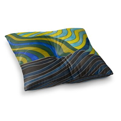 NL Designs Desert Waves Square Floor Pillow Size: 26 x 26