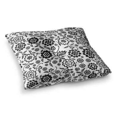 Nicole Ketchum Cherry Floral Square Floor Pillow Size: 26 x 26