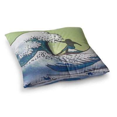 Infinite Spray Art Hokusai Remake Square Floor Pillow Size: 26 x 26