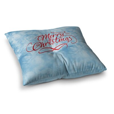 Snap Studio Merry Christmas Typography Square Floor Pillow Size: 23 x 23