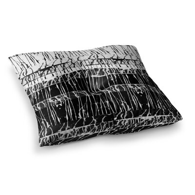 Nina May Century City Splatter Square Floor Pillow Size: 26 x 26
