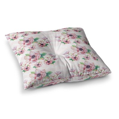 Sylvia Cook Water Magnolias Digital Square Floor Pillow Size: 26 x 26